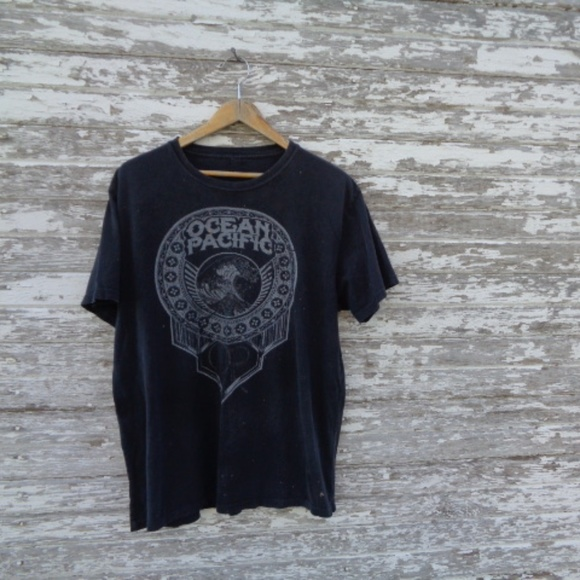 Other - [Ocean Pacific] Distressed T-Shirt Tee Black